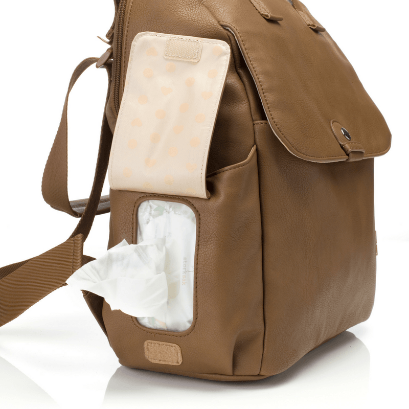 Robyn Faux Leather Diaper - Tan - Project Nursery