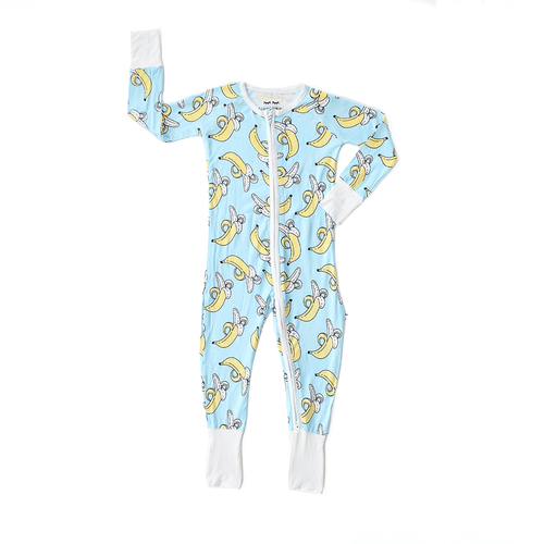 Banana Bamboo Zip Romper + Sleeper - Project Nursery