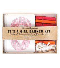 It's a Girl Letterpress DIY Banner Kit - Project Nursery