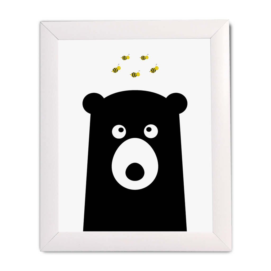 Bear with Bees Print