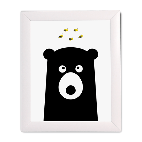 Bear with Triangles Print