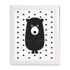 Bear with Triangles Print - Project Nursery