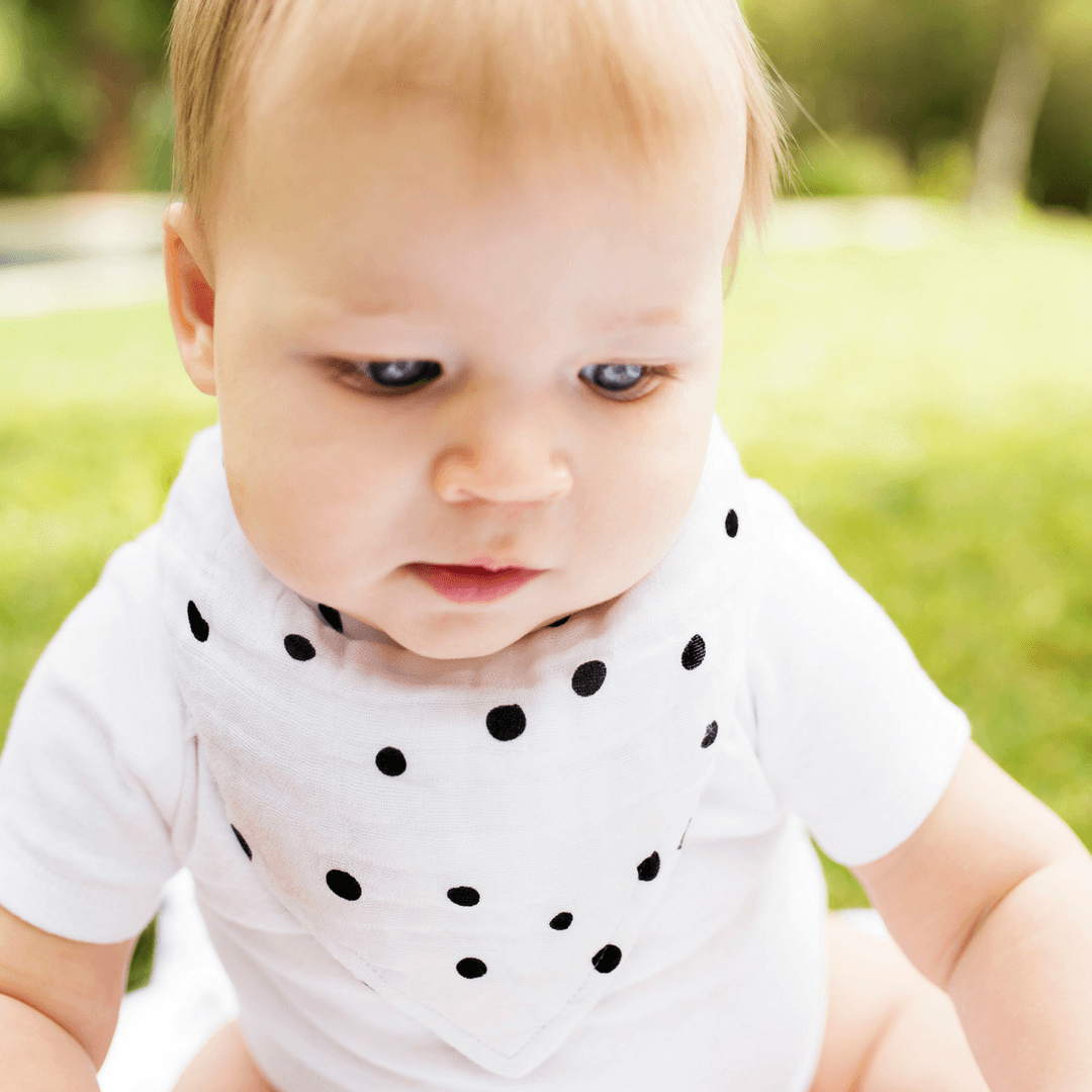 Oh So Soft Luxury Muslin Bandana Bib - Dottie - Project Nursery