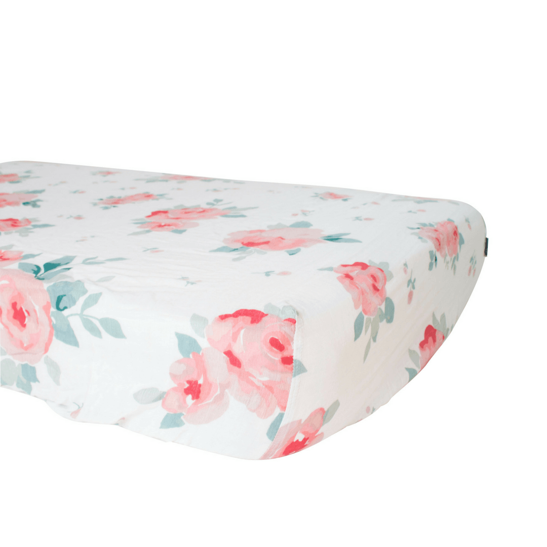 Rosy Luxury Muslin Crib Sheet