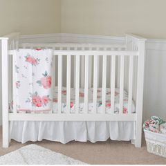 Rosy Luxury Muslin Crib Sheet - Project Nursery