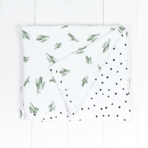 Saguaro + Dottie Luxury Muslin Toddler Snuggle Blanket - Project Nursery