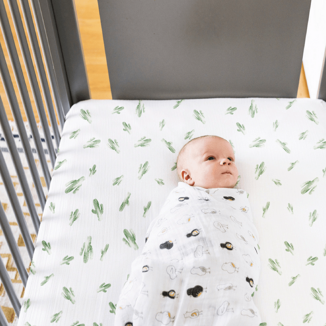 Saguaro Luxury Muslin Crib Sheet - Project Nursery