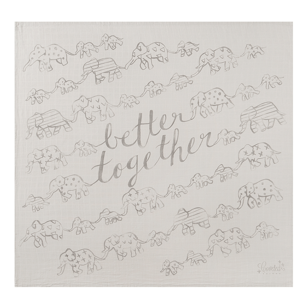 'Better Together' Organic Swaddle Scarf  - The Project Nursery Shop - 1