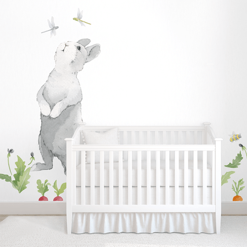 Big Curious Bunny Wall Decal - Project Nursery