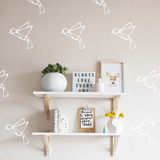 Origami Birds Wall Decal White - The Project Nursery Shop - 2
