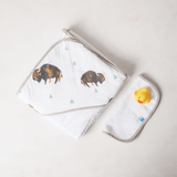 Hooded Towel Set - Bison  - The Project Nursery Shop