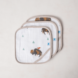 Cotton Wash Cloth Set - Bison  - The Project Nursery Shop