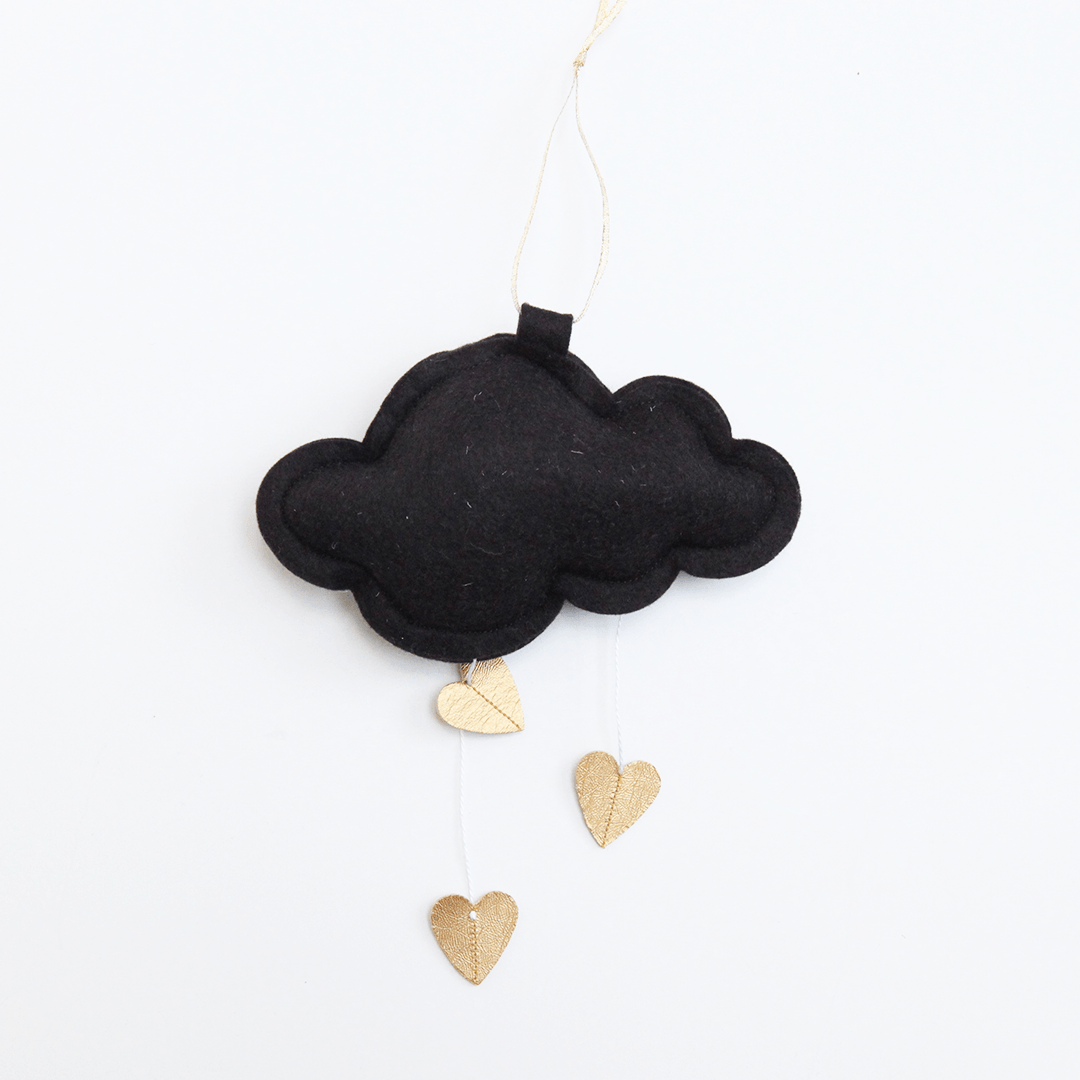 Mini Heart Cloud - Black