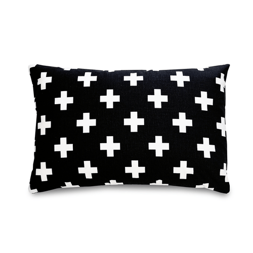 Black Cross Pillow - Project Nursery