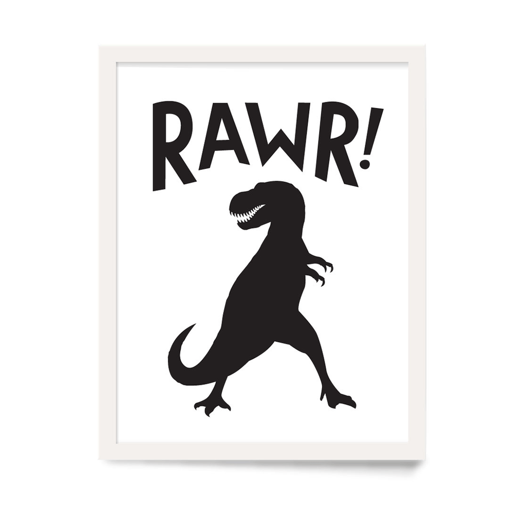 Rawr! Art Print Black - The Project Nursery Shop - 1