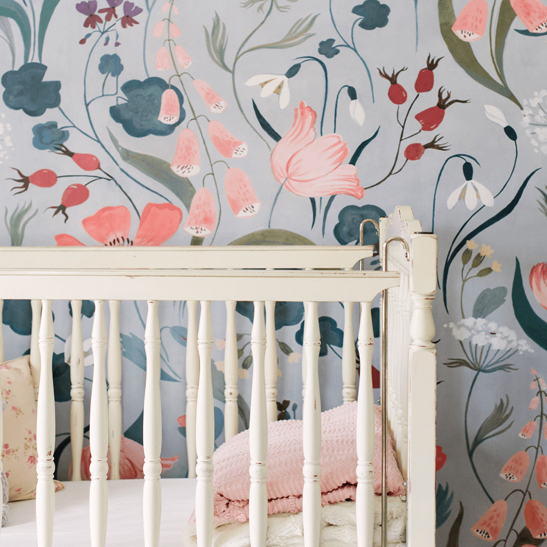 Blu Bell Wallpaper Mural - Project Nursery