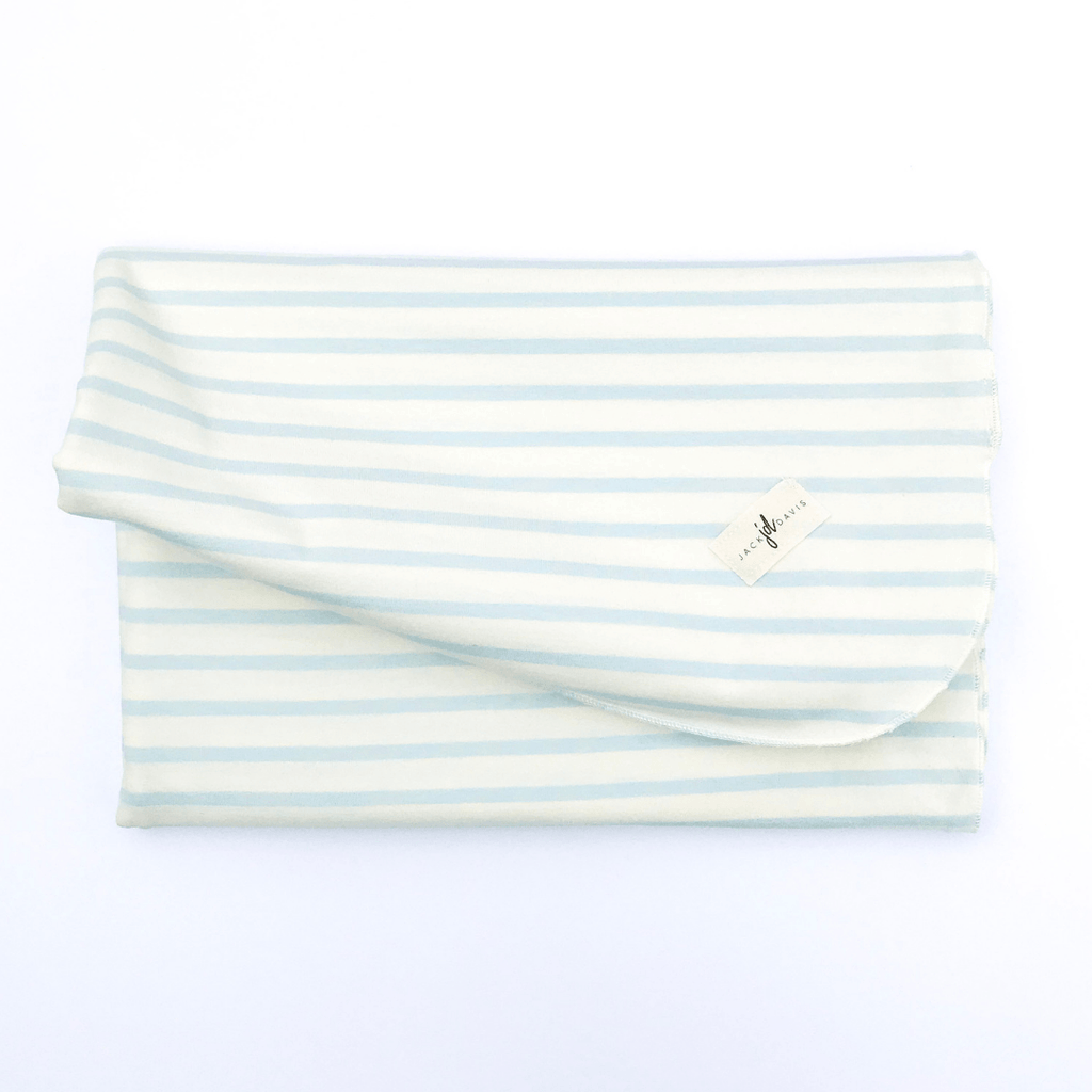 Blue Stripe Swaddle Blanket - Project Nursery