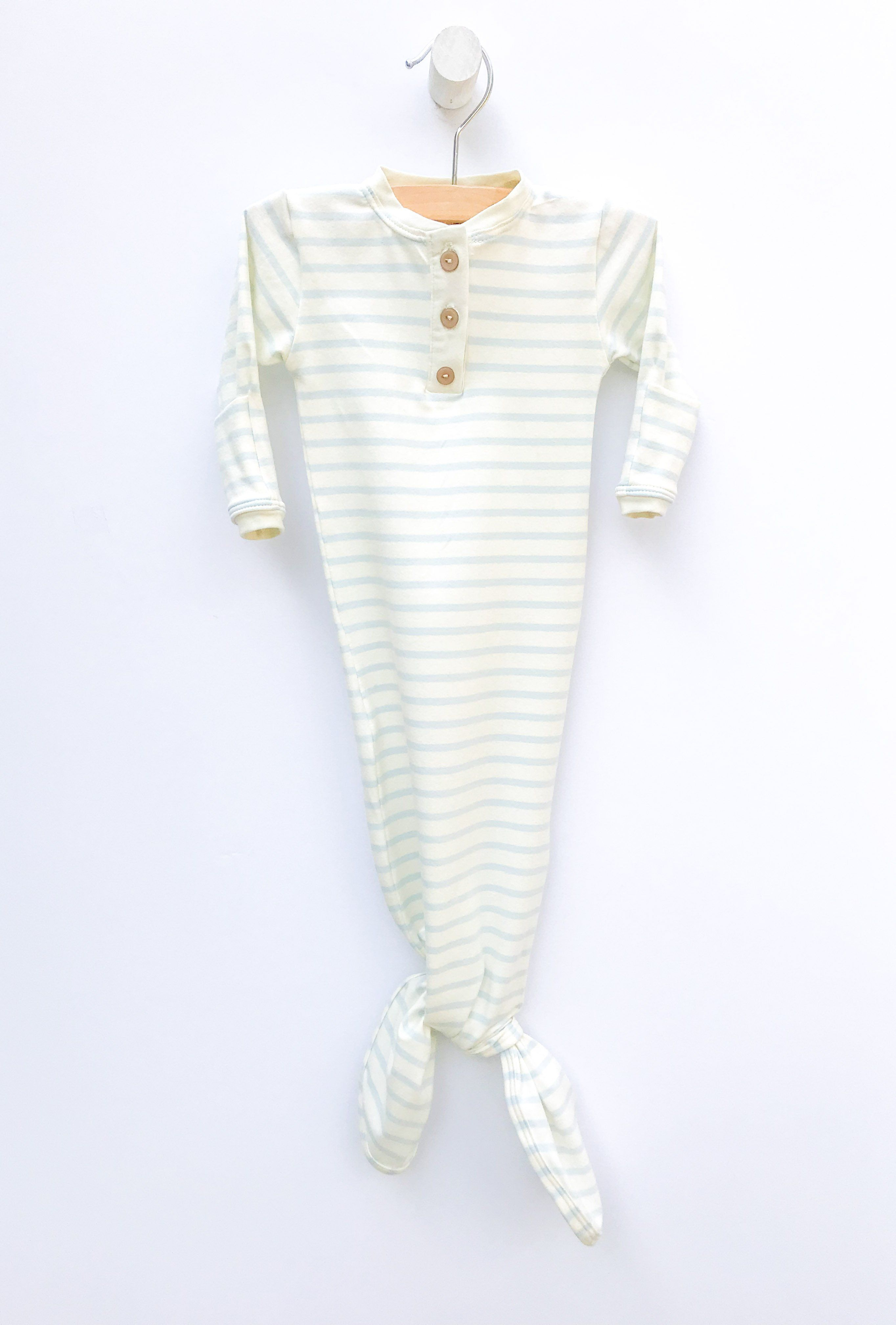 Blue Stripe Sleep Gown - Project Nursery