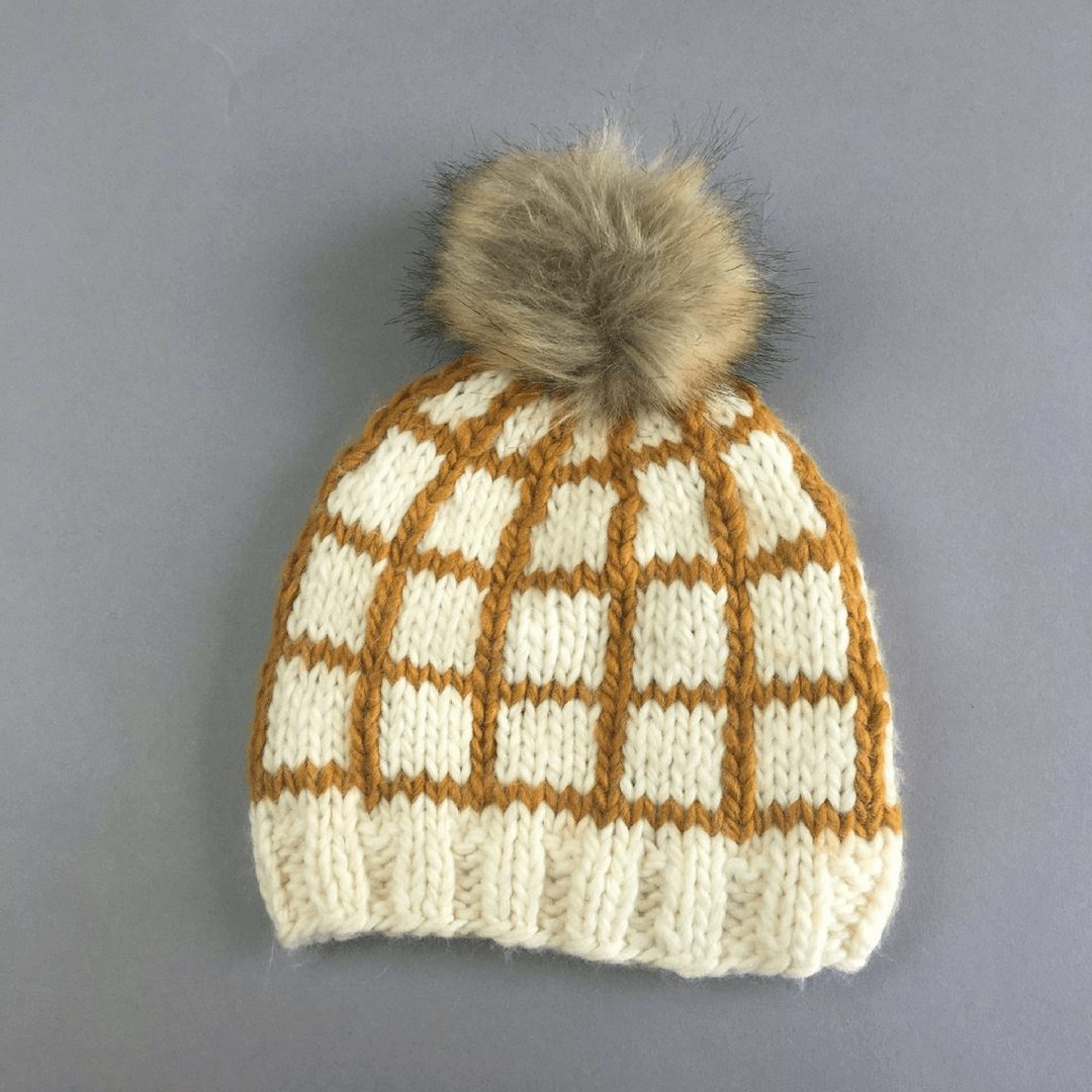 Isla Windowpane Knit Hat - Project Nursery