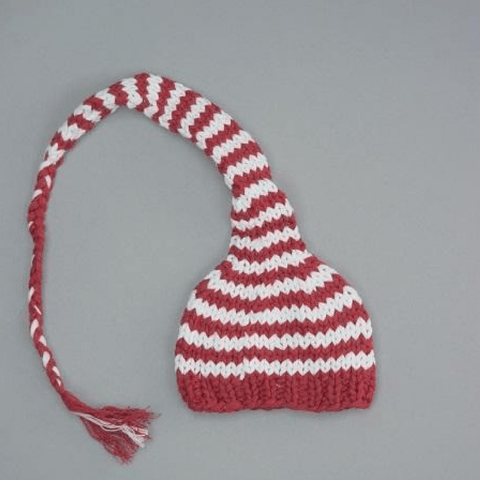 Organic Thermal Knotted Cap -  Ruby