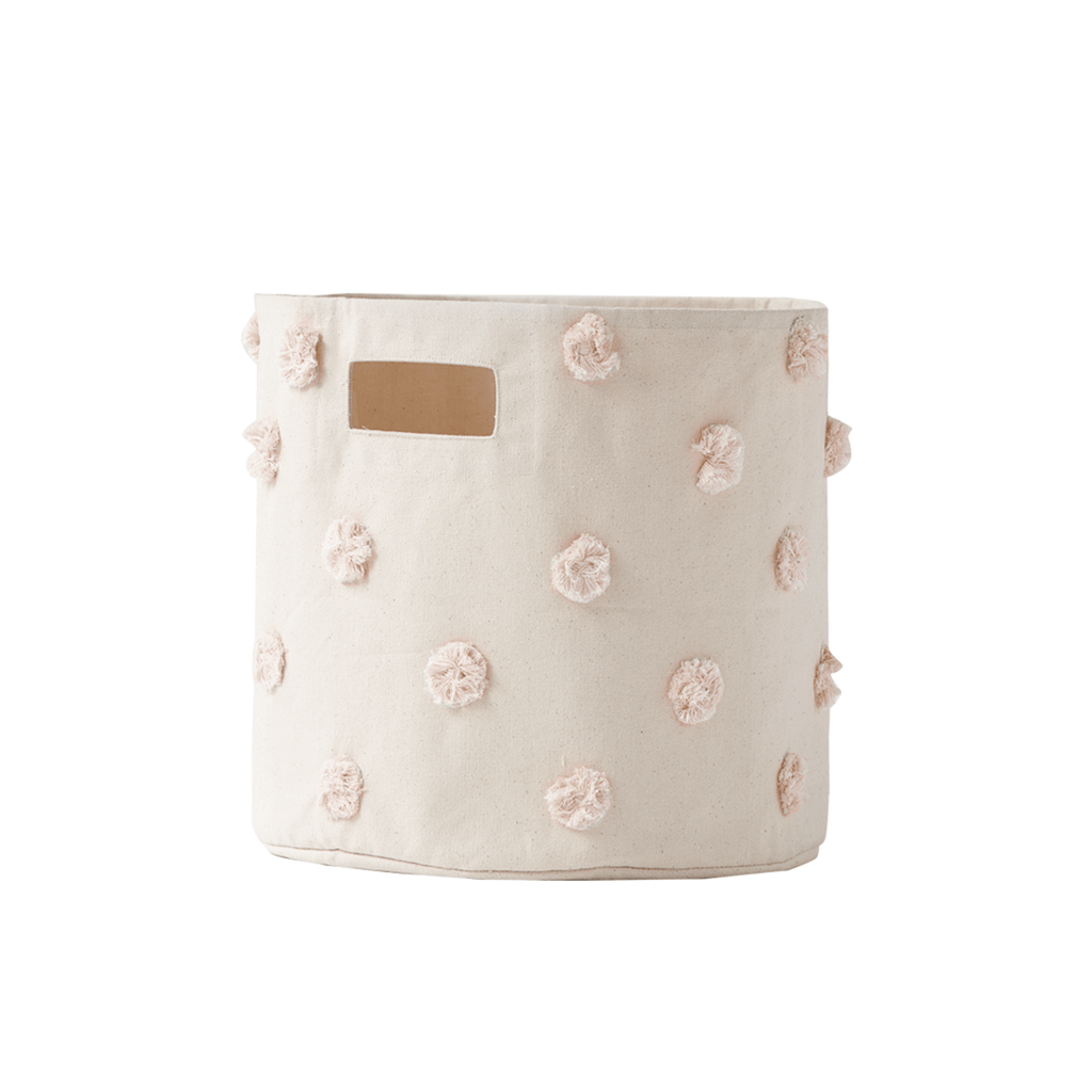 Pom Pom Storage Bin Blush - The Project Nursery Shop - 1