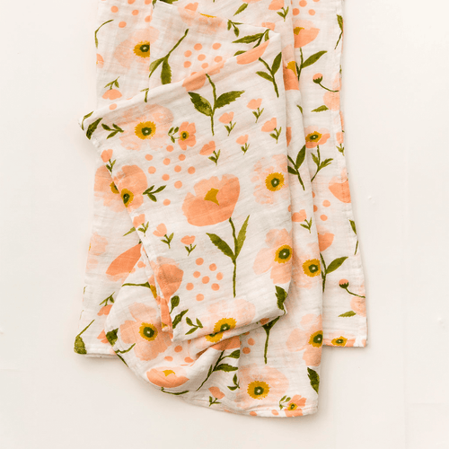 Blush Bloom Swaddle Blanket - Project Nursery