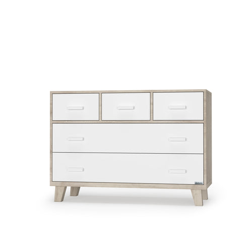 Boston 5-drawer Dresser - White/Oak - Project Nursery
