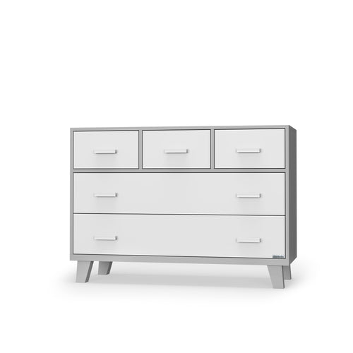 Boston 5-drawer Dresser - White/Gray - Project Nursery