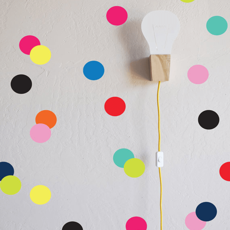 Confetti Dots Wall Decal Bright - The Project Nursery Shop - 2