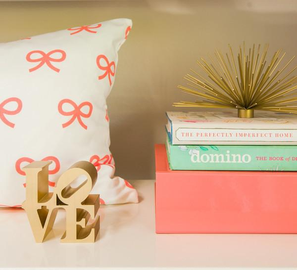 Coral Bow Pillow Cover - Project Nursery