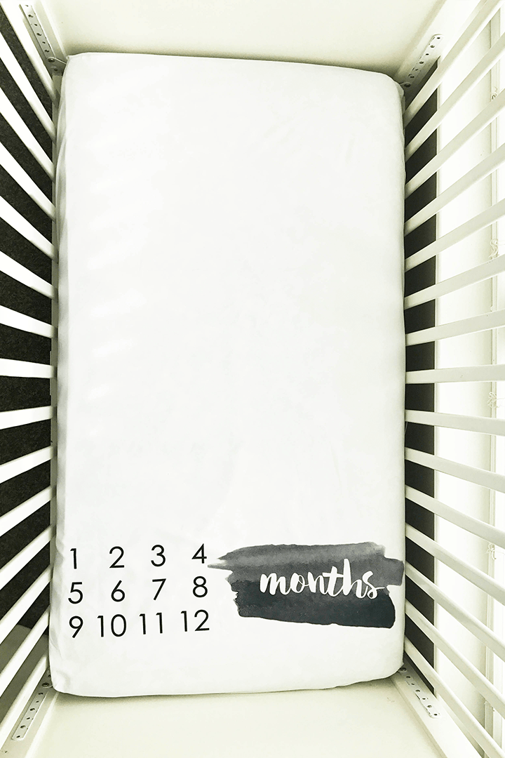 Brush Stroke Milestone Crib Sheet - Project Nursery