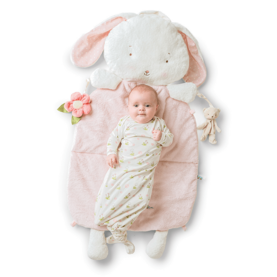 Blossom Bunny Pillow Play Mat - Project Nursery