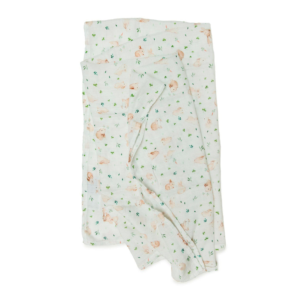 Bunny Meadow Muslin Swaddle Blanket - Project Nursery