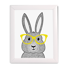 Bunny With Glasses Print - Project Nursery