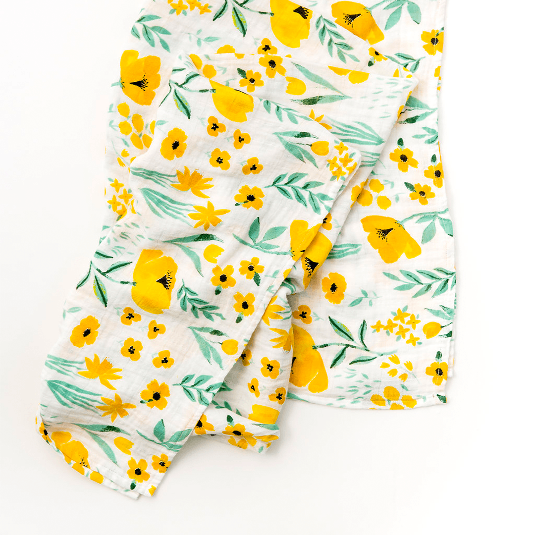 Buttercup Blossom Swaddle Blanket