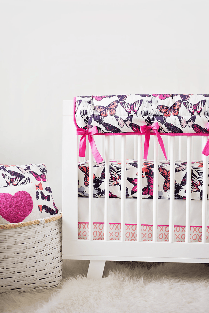 Butterfly Kisses Crib Rail Cover