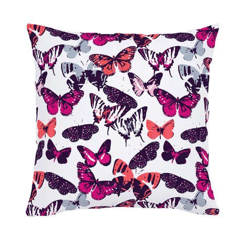 Pink Woodland Throw Pillow