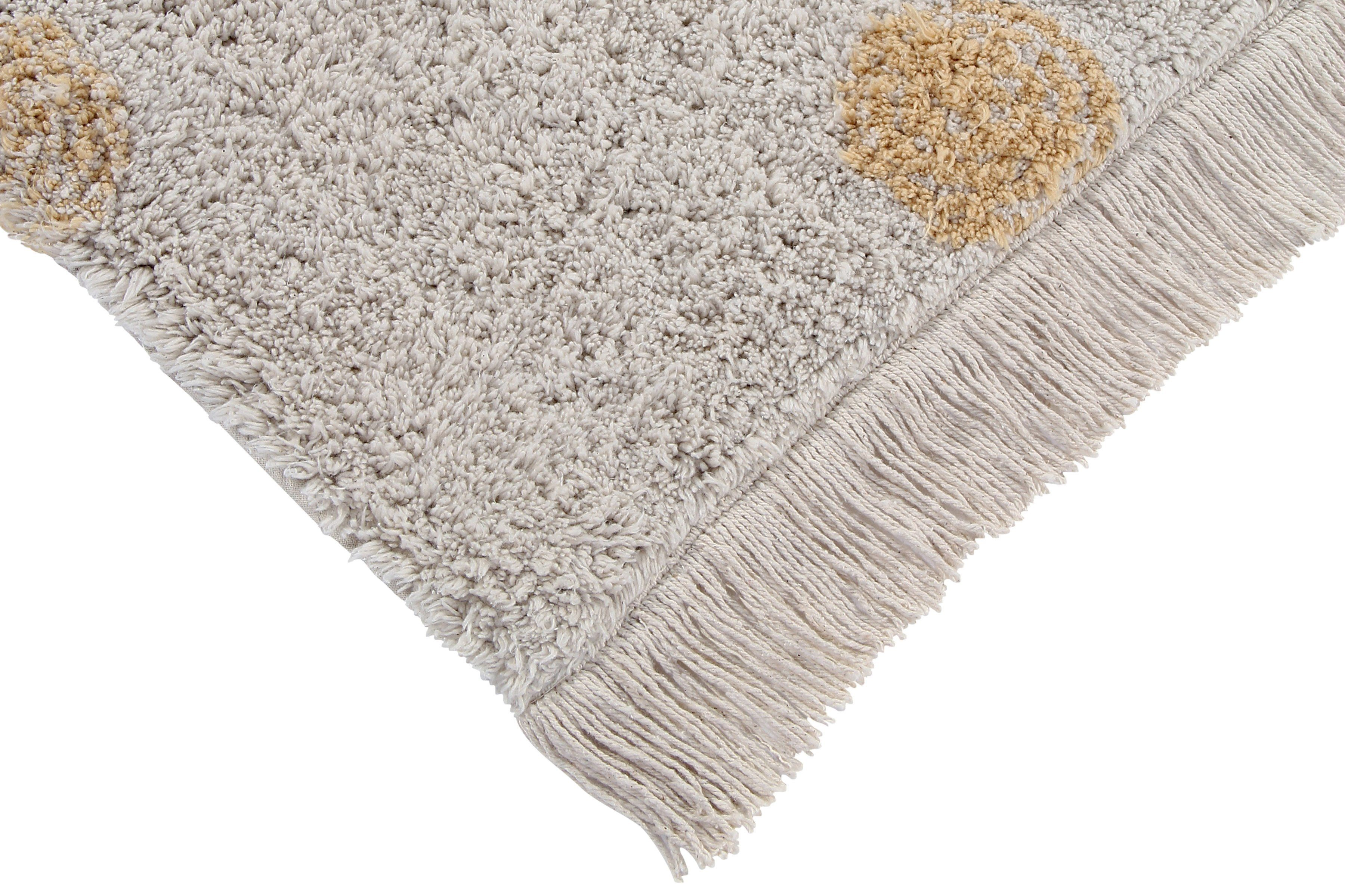 Hippy Dots Washable Rug - Honey - Project Nursery
