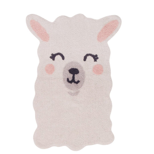 Smile Like a Llama Washable Rug - Project Nursery