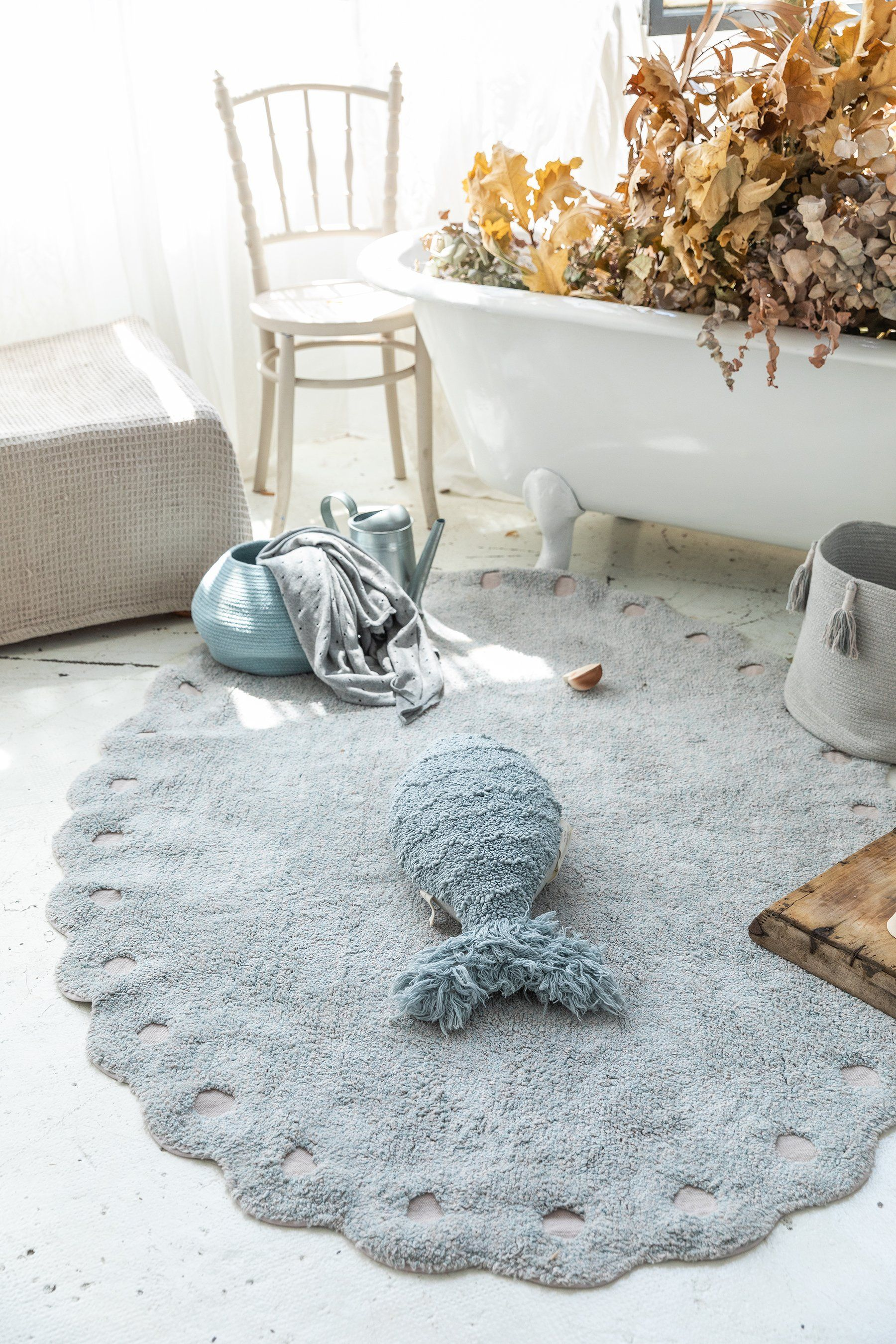 Picone Washable Rug - Pearl Blue - Project Nursery