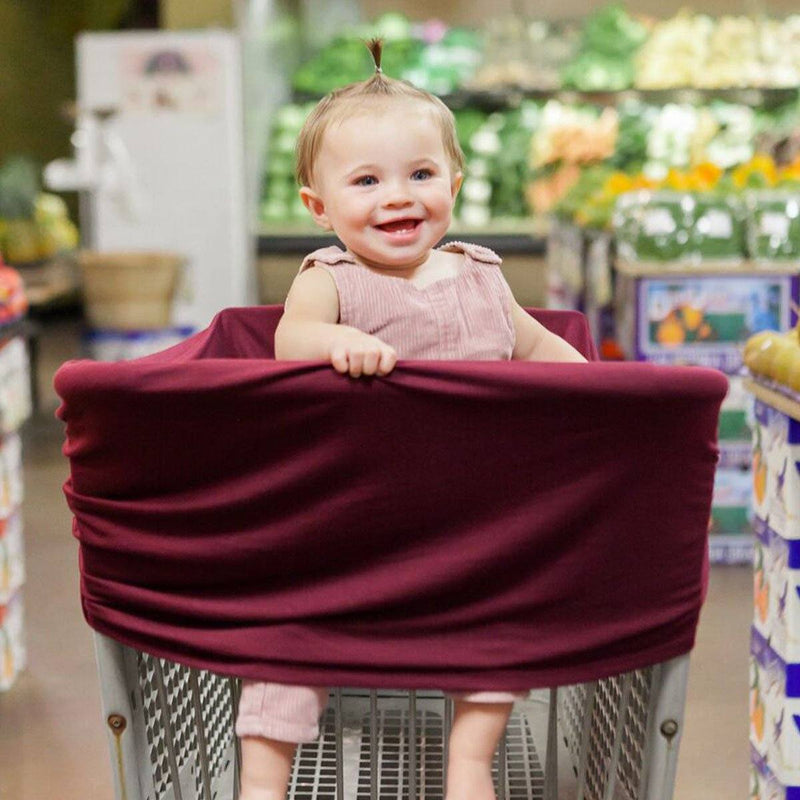 Four-in-One Nursing + Car Seat Cover - Burgundy - Project Nursery
