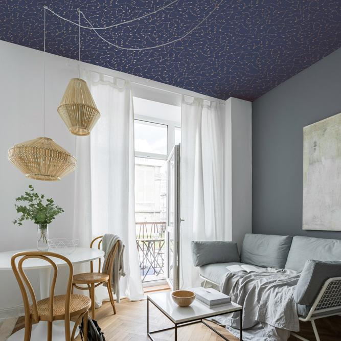 Constellations Wallpaper - Navy - Project Nursery