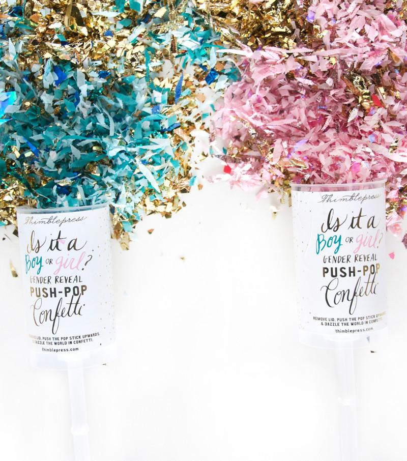 Gender Reveal Push-Pop Confetti  - The Project Nursery Shop - 4