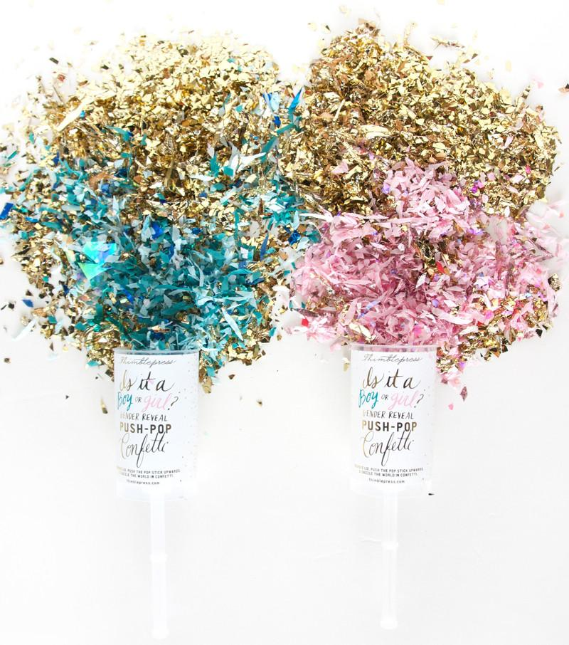 Gender Reveal Push-Pop Confetti - Project Nursery
