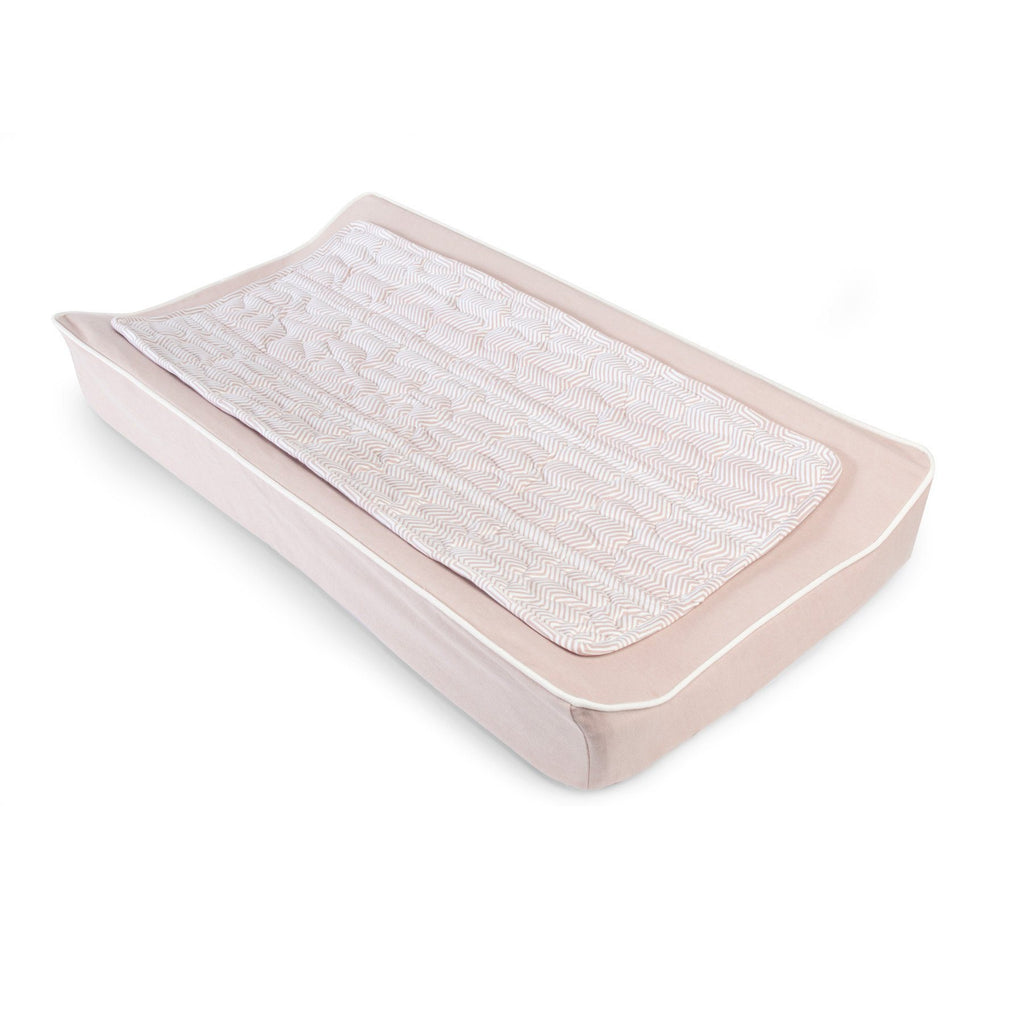 ZigZag Changing Pad Cover & Topper Kit – Blush