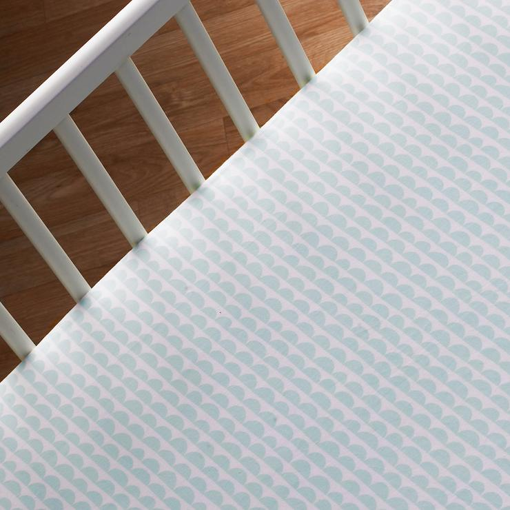 Mint Scallop Crib Sheet  - The Project Nursery Shop
