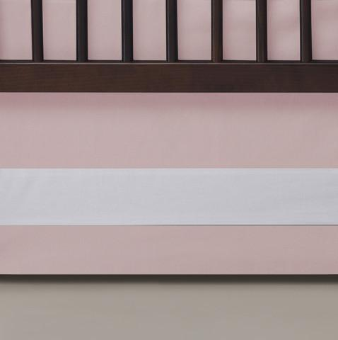 Solid Crib Skirt Blush - The Project Nursery Shop - 4