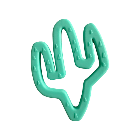Silicone + Wood Teether Toy - Succulent