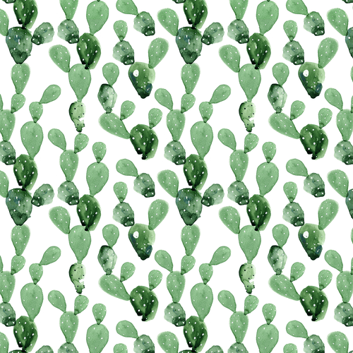 Watercolor Cactus Wallpaper Mural - Project Nursery