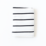 Charcoal Stripe Swaddle Blanket